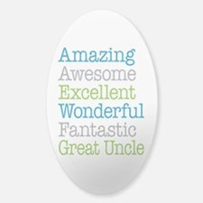 Great Uncle - Amazing Fantastic Sticker (Oval)