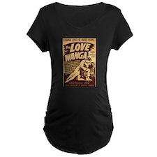 Love Wanga Maternity Black T-Shirt