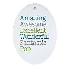 Pop - Amazing Fantastic Ornament (Oval)