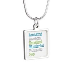 Pop - Amazing Fantastic Silver Square Necklace