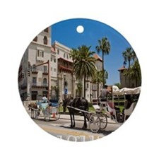 downtown st augusitne Ornament (Round)