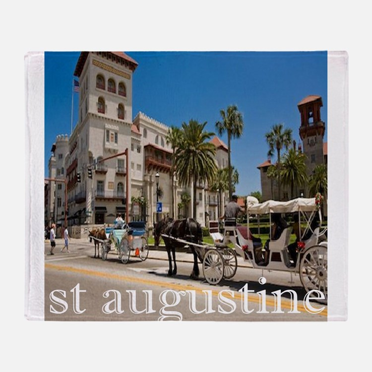 downtown st augusitne Throw Blanket