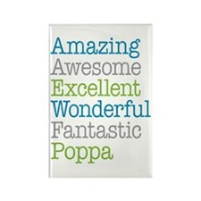 Poppa - Amazing Fantast Rectangle Magnet (10 pack)