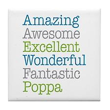 Poppa - Amazing Fantastic Tile Coaster