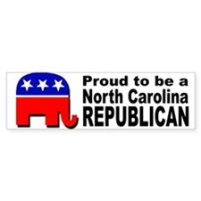 Proud North Carolina Republican Bumper Sticker