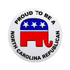 Proud North Carolina Republican Ornament (Round)