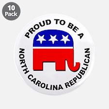 "Proud North Carolina Republi 3.5"" Button (10 pack)"