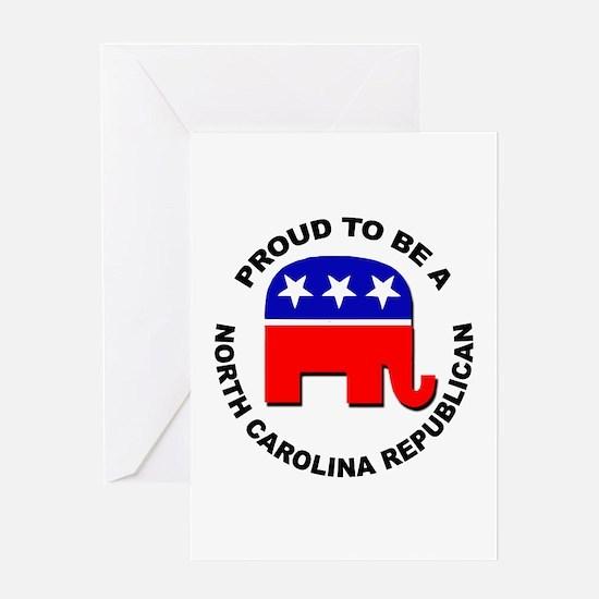 Proud North Carolina Republican Greeting Card