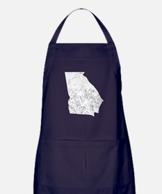 Distressed Georgia Silhouette Apron (dark)