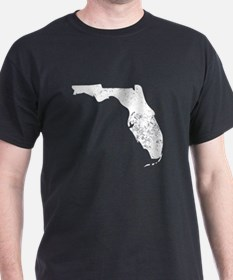 Distressed Florida Silhouette T-Shirt