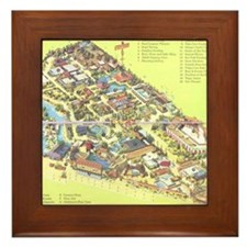 Framed Japanese Village and Deer Park Tile