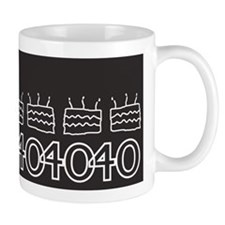 Black 40th Birthday Mugs
