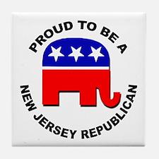 Proud New Jersey Republican Tile Coaster