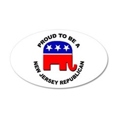 Proud New Jersey Republican 20x12 Oval Wall Decal