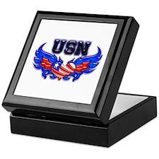 USN Heart Flag Keepsake Box