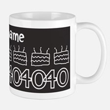 Personalized Black 40th Birthday Mug