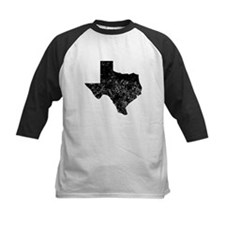Distressed Texas Silhouette Baseball Jersey