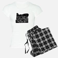 Distressed Oregon Silhouette Pajamas