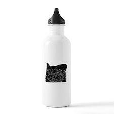 Distressed Oregon Silhouette Water Bottle