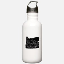Distressed Oregon Silhouette Water Bottle