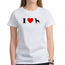 I Heart German Pinscher Women's TShirt