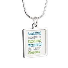 Stepson - Amazing Fantasti Silver Square Necklace