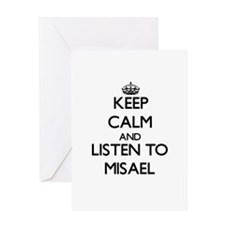 Keep Calm and Listen to Misael Greeting Cards