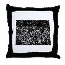 Distressed North Dakota Silhouette Throw Pillow