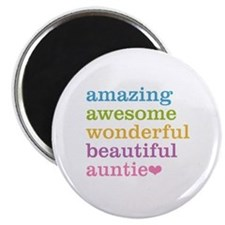 Auntie - Amazing Awesome Magnet