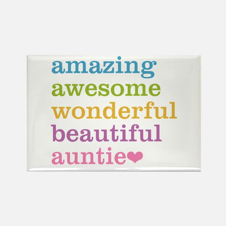 Auntie - Amazing Awesome Rectangle Magnet