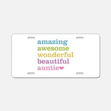 Auntie - Amazing Awesome Aluminum License Plate