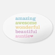 Auntie - Amazing Awesome Sticker (Oval)