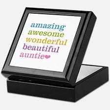 Auntie - Amazing Awesome Keepsake Box