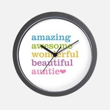 Auntie - Amazing Awesome Wall Clock