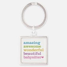 Babysitter - Amazing Awesome Square Keychain