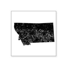 Distressed Montana Silhouette Sticker