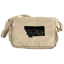Distressed Montana Silhouette Messenger Bag