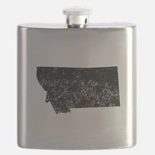 Distressed Montana Silhouette Flask