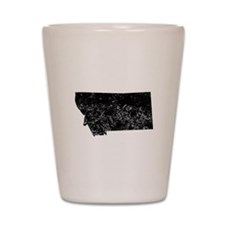 Distressed Montana Silhouette Shot Glass