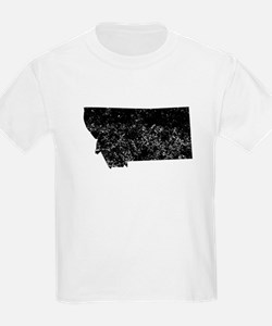 Distressed Montana Silhouette T-Shirt