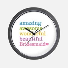 Bridesmaid - Amazing Awesome Wall Clock