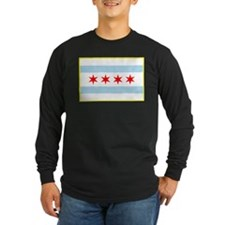 Flag of Chicago Stars and Stripes Long Sleeve T-Sh