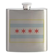 Flag of Chicago Stars and Stripes Flask