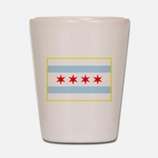 Flag of Chicago Stars and Stripes Shot Glass