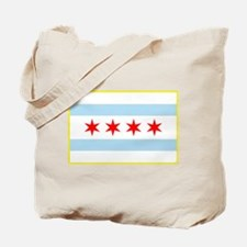 Flag of Chicago Stars and Stripes Tote Bag