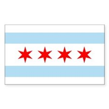 Flag of Chicago Stars and Stripes Decal