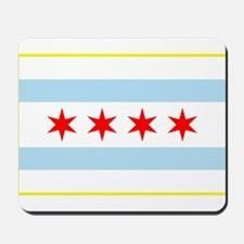 Flag of Chicago Stars and Stripes Mousepad