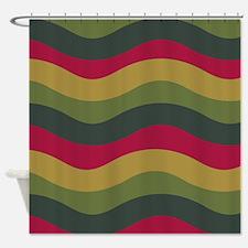Avocado Waves Shower Curtain
