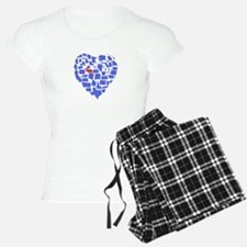 Nebraska Heart Pajamas