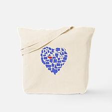 Nebraska Heart Tote Bag